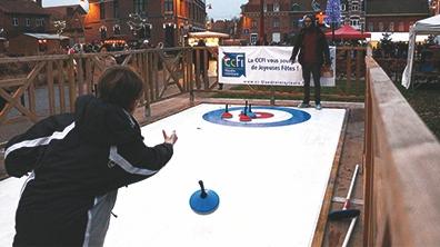 Deux pistes de curling